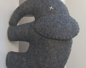 Large Grey Felt Elephant