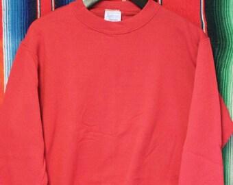 Vintage Blank Red 80s 90s Tultex  Sweatshirt