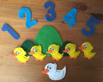 5 Little Ducks Felt Board Set