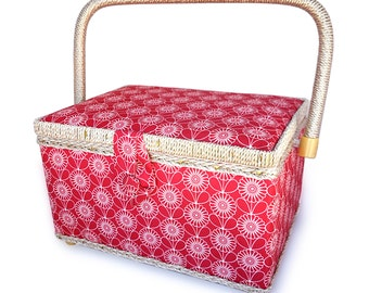 bbloop Vintage Sewing Basket (med) w/ Notions