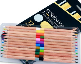 Solabela 12 Bi-Color Colored Pencils - 24 Colors