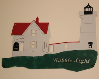 Nubble Lighthouse Wall Sculpture