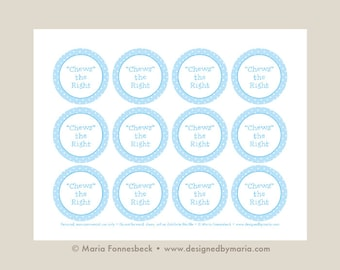 Ctr chews the right favor tags printable girl light blue chews the right ctr favor tag printable lds primary or lds baptism 225 negle Gallery