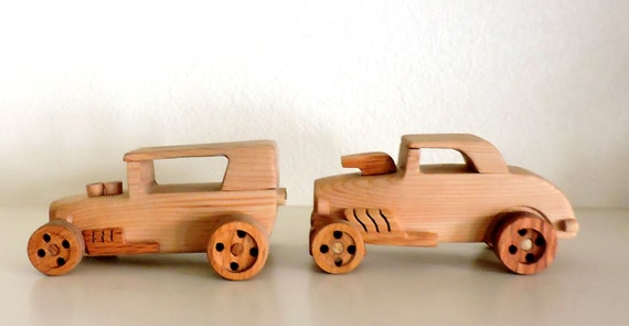 Everything For Boys Toy Cars : Two wooden toy carswooden car toys for boys race