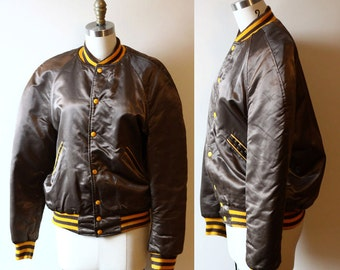 1970s varsity jacket  // bomber jacket // vintage jacket