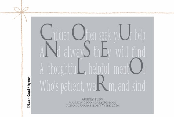 School Counselor Gifts Personalized Teacher Gift Coworker Gift
