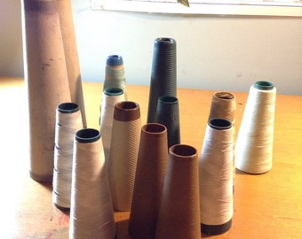 Empty Cone Thread Spools Assortment