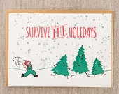 Survive the Holidays Letterpress Holiday Card