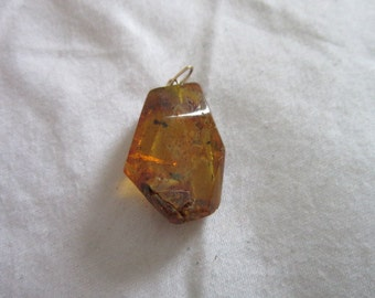 Antique  Amber Necklace Pendant