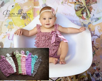 Petti Lace Ruffle Romper, newborn photography prop, Cake smash, birthday party