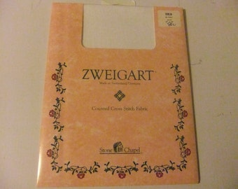 ZWEIGART LINEN CROSS Stitch Fabric/Dublin White Cross Stitch Fabric/Stone Chapel
