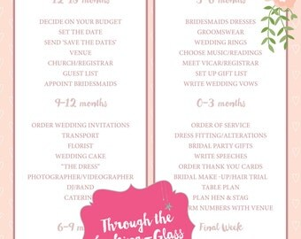 Printable 'I do' wedding checklist Vintage floral blush polkadot