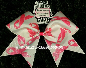 Breast Cancer Awareness Cheer And Dance Bows