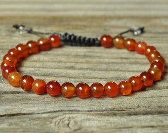 Sacral Chakra Bracelet, Carnelian Bracelet, Yoga Bracelet, Meditation Bracelet, Chakra Healing, Crystal Healing, Beaded Bracelet, Mala