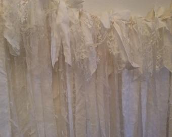 Lace Garland, White Garland, Shabby Wedding Garland, Lace Garland, Shabby Chic Garland,  Wedding Shower