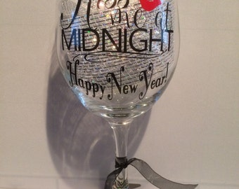 Wine Glass for New Year's Eve.