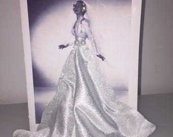 Beautiful Handmade Retro Greeting Card - Bridal