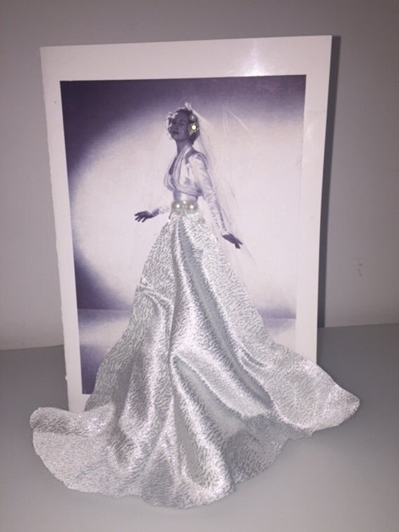 Beautiful Handmade Retro Greeting Card - Bridal