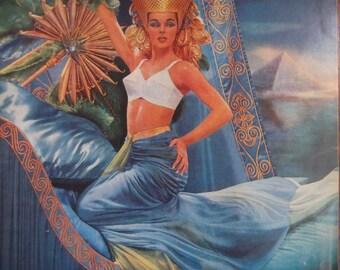 MAIDENFORM BRA I Dreamed I Barged Down The Nile...Original 1950s Vintage Ad Womens Lingerie Fashion Bedroom Bathroom Decor Ready To Frame