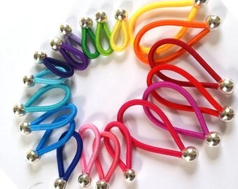 choose SIZE - FLOOPS  knitting stitch markers (20) - Brilliant