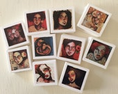 PRINTS - 10 x Mini Giclee prints of my TeaBagGirls - TinyBagsofLove from my 366faces challenge for 2016