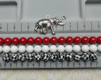 Alabama necklace kit with elephant pendant and 14mm DIY supplies- Alabama Beads