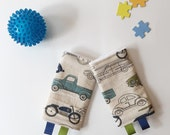 Retro Ride Drool Pads Duck Cloth // Lillebaby Beco Tula and more // fits most carrier straps - READY To Ship