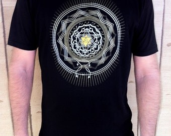 Star Seed / Sacred Geometry / Mens Clothing / Unisex / Organic Bamboo / Hippie / Festival / Screen Printed / hipster / Boho