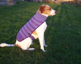 Crochet Dog Sweater, Made to Order