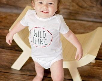 Wild One baby body suit