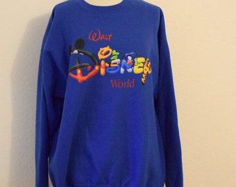 Royal Blue 'Walt Disney World' Oversize Sweatshirt - Women's XL
