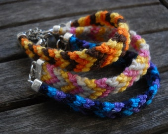 macrame bracelet Summer of Friendship.Chevron, 3 colors