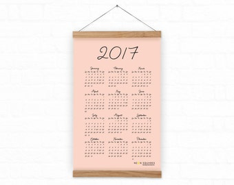 Simple Lady Love 2017 Wall Calendar //  Bridesmaids, Friends, Family or Coworker Gift // DIY 2017 Wall Calendar // Instant Download Calendar