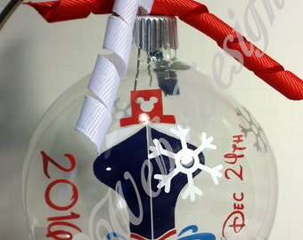 Disney Cruise Line Inspired Floating Glass Ball Christmas Ornament, Fish Extender Gift