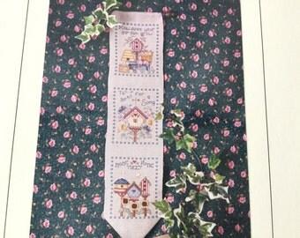 Cross Stitch Pattern, Birdhouse Pattern, Birdhouse Banner, Cross Stitch Birds, Lori Birmingham, Garden Pattern, Bird Charms,