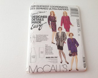 McCalls Coordinates, McCalls Pattern, Sewing Pattern, Jacket Pattern, Skirt Pattern, Dress Pattern, Quick Sew, McCalls 5583