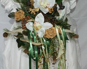 Rustic Woodland Wedding Bouquet with Deer Antlers
