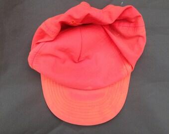 vibrant neon orange pink snapback hat cap
