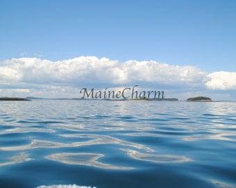 Ocean Ripples, Ocean Photography, Maine Coast, Maine seascape photo