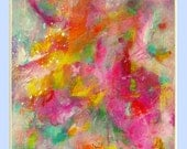 """abstract art acrylic painting, contemporary art, modern painting by M.Schöneberg """"Happy""""20x16x0,75"""