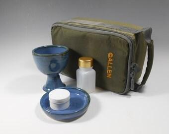 Portable communion set - chalice and paten set - travel communion set - portable communion kit  - liturgical ware - communion ware W167