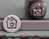 8mm House with Heart Metal Design Stamp - SGCH-27