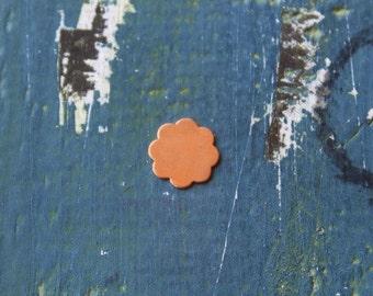 Copper 8 Petal Flower Stamping Blank - Metal Stamping Blank - 14mm - 24 Gauge - Pack of 5 - Jewelry Stamping Blank - SGMSC001FL24