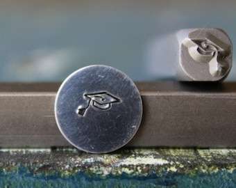 6mm Graduation Cap Metal Design Stamp - SGUB-29