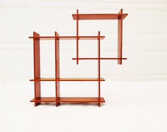 Mondrian-style Display - Mid-Century Display Piece - Plywood Construction - Hang on a Wall - Stand on a Table - Simple -  Crisp - Clean