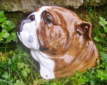 Dog head by pic/English bulldog head/Irish wolfhound head/Boston terrier head/personal sculpture by pic