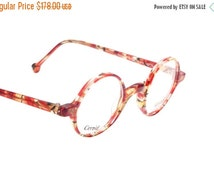 SALE -15% Kenzo Brooks new old stock hand made in France ultra light round - circle spectacle frames, NOS 80s