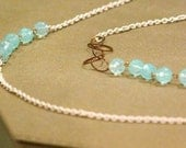 From the Sea White Chain Necklace