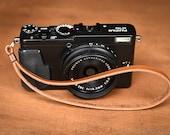 Camera Hand Strap for small cameras - tan Horween latigo