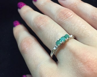 Natural Emerald Ring in 10K Gold
